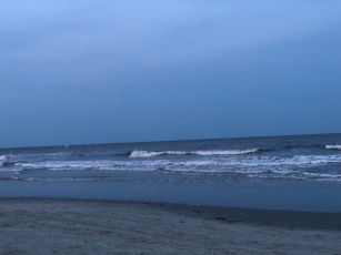 Hunting island South Carolina evening Surf